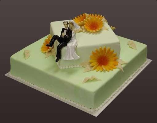 """Hochzeitseistorte """"zweistöckig quadratisch"""""""